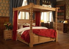 Explore the best Fabulous Canopy four poster Bed Design Ideas at Live Enhanced. Visit for more images and take ideas about Canopy's four-poster Bed Design. 4 Poster Bed Canopy, Canopy Bed Drapes, Wood Canopy Bed, Canopy Bedroom, Four Poster Bed, Ikea Canopy, Hotel Canopy, Canvas Canopy, Arquitetura