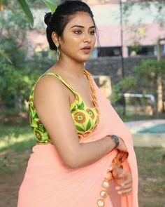 Indhuja Ravichandran latest hot transparent pink saree and yellow floral sleeveless blouse Hot Images Of Actress, Tamil Actress Photos, Indian Film Actress, South Indian Actress, Indian Actresses, Punjabi Actress, Cinema Actress, Most Beautiful Indian Actress, Beautiful Actresses
