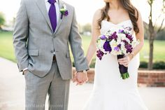 purple and grey Wedding. yes yes yes yes :)  @Jordan Swanson @Stacie Parks