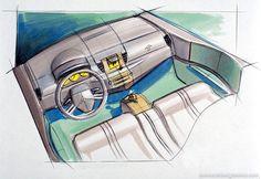 OG | 2002 Renault Megane MK2 | Interior design sketch