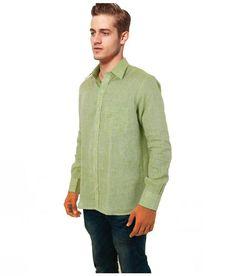 Cobrio Green Casuals Regular Fit Shirt