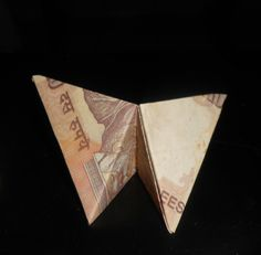 Currency bill origami butterfly