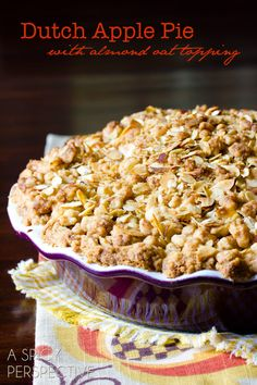 Dutch Apple Crumb Top Apple Pie- perfect for all the apples and only one crust to roll out with this delicious recipe.