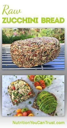 This is an adapted version to my homemade raw bread (also… Raw Zucchini Bread! This is an adapted version to my homemade raw bread (also… - Delicious Vegan Recipes Raw Vegan Dinners, Raw Vegan Recipes, Vegan Foods, Vegan Dishes, Vegan Vegetarian, Vegetarian Recipes, Healthy Recipes, Eating Raw, Healthy Eating