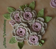 Irish crochet flower motif
