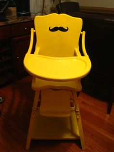 Vintage High Chair Refinished For Babyu0027s First Birthday!