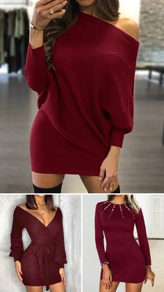 Fall Wedding Outfits, Spring Outfits, Swag Outfits, Cute Outfits, Fashion Outfits, 26 Birthday, Senior Photo Outfits, Crochet Cord, Burgundy Dress