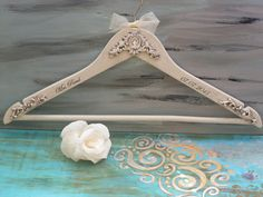 Wedding antique white hangerWedding by InspirellaDesign on Etsy