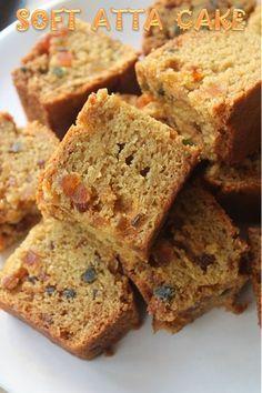 YUMMY TUMMY: Easy Atta Cake Recipe - Eggless Whole Wheat Tutti Frutti Cake Recipe