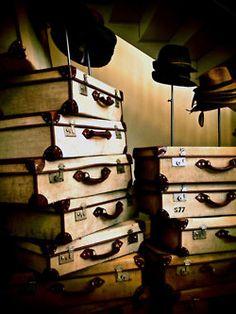 vintage suitcase collection