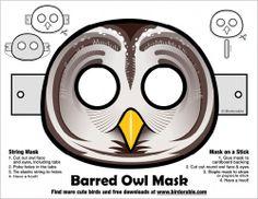 Owl Halloween #Owl #Halloween #purple #orange #download #mask #free #freebie #printable  DOING THIS BECAUSE I AM A BARRED OWL.