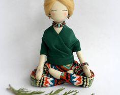 Muñeca personalizada paño muñeca Yoga regalo personalizado de la muñeca escultura Yoga suave de tela colección muñeca muñeca de trapo Selfie regalo a su Mini me recuerdo