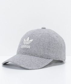 26fbee6bca8 adidas Relaxed Grey Wool Dad Hat