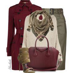 Red & khaki