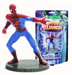 "Marvel Miniature Alliance 2.75"" PVC Figurine - Spider-Man (Individually packaged on Blister Card) by Monogram International. $5.02. Colorful characters on base. Good size to use as cake toppers, or party favors. Convenient 2.75"" Size - play size. packaged in blister card package - good as a  display option. From the Manufacturer                Monogram proudly presents ""All New"" Marvel Miniature Alliance series figurines - First Series of Miniature Alliance 2.75"" PVC Figurin..."