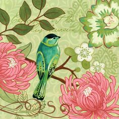 Jennifer Brinley —  Green Bird Chrysanthemum