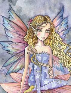 Fairy Art by Molly Harrison Rainbow close up Fairy Paintings, Gothic Fantasy Art, Unicorns And Mermaids, Fairy Pictures, Butterfly Fairy, Gnome, Witch Art, Mandala, Fairy Art