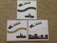 Die Cut Christmas Cards, Christmas Card Crafts, Homemade Christmas Cards, Merry Christmas Card, Xmas Cards, Homemade Cards, Handmade Christmas, Christmas 2019, Scrapbooking