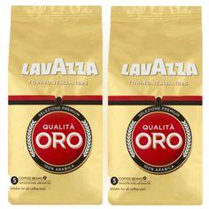 Lavazza Qualita Oro Beans 2 x Twin Pack Arabica Coffee Beans, Italian Espresso, Coffee Maker, Tea, Sweet, Floral, Coffee Maker Machine, Candy