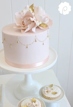 Blush with gold accent