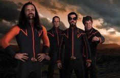 Des acteurs de la série «Hero Corp»: Alban Lenoir (Klaus), Sébastien Lalanne (Doug), Simon Astier (John) et Lionnel Astier(Neil Mac Kormack)...