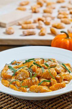 Pumpkin Gnocchi in Gorgonzola Sauce recipe
