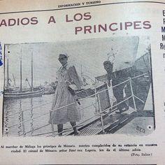 #PrincipesMonaco #VisitaMalaga #1956 En: #InformacionyTurismo
