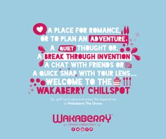 Wakaberry, the place for a quiet thought, or a break through invention!