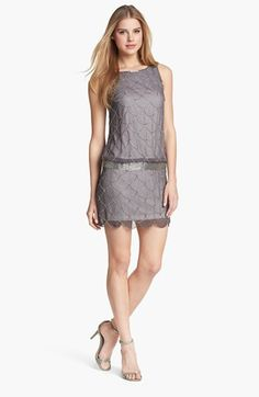 Adrianna Papell 'Fish Scale' Embellished Mesh Dress available at #Nordstrom