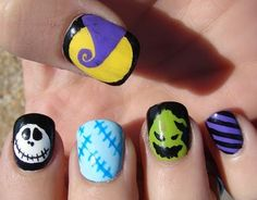 Nightmare Before Christmas Nails! tesla would love t hese!