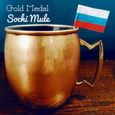 A Cuppa Kim: Gold Medal Sochi Mule! Haha I knew I got those copper mugs for Brian for a reason.