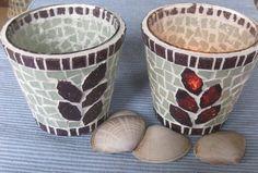 Windlicht, Teelichthalter von Mosaikkasten  Dekoration für Haus und Garten auf DaWanda.com