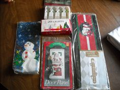 Santa Claus Toy Bag, NIP Mini Ornaments, Door Panel, Card Holder and Bags Christmas items - for sale at Wenzel Thrifty Nickel ecrater store