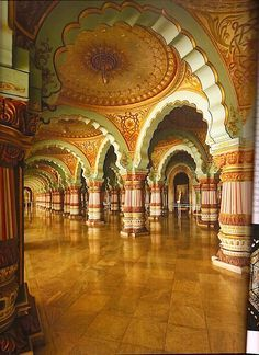 Incredible Architecture In The Royal Mysore Palace in India  http://quintessenceblog.com/mighty-maharajas-forts-and-palaces-of-india/?utm_content=buffer04353&utm_medium=social&utm_source=pinterest.com&utm_campaign=buffer #India #Mysore #Palace