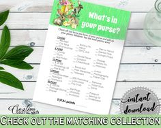 Whats In Your Purse Baby Shower Whats In Your Purse Rabbit Baby Shower Whats In Your Purse Baby Shower Rabbit Whats In Your Purse 4N0VK - Digital Product #babyshowergifts #babyshowerideas