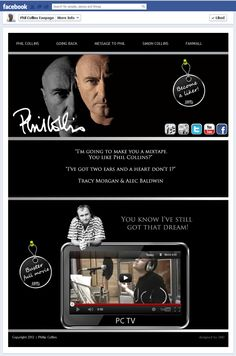 Phil Collins Timeline Landing Page *also Facebook Showcase, weblovers.de and frankwatching