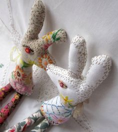 Murgatroyd & Bean - Baby Bean the Hand Embroidered Hare: Weaving a Tale