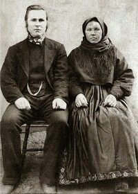 Couple from Telemark ca. 1900