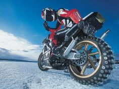NSR250 ice racing in Sweden