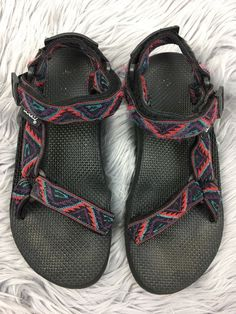 41175c39f Teva Sport Sandals Multicolor Textile Womens Shoes Sz W7