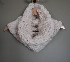 Super Chunky Crochet Cowl in Cream (Wool/Acrylic)