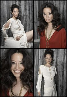 Lucy Liu featured on 'Ocean Drive' Magazine. April 2006