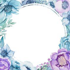 Vintage Flowers Wallpaper, Flower Background Wallpaper, Cute Wallpaper Backgrounds, Flower Backgrounds, Frame Background, Cute Wallpapers, Iphone Wallpaper, Watercolor Drawing, Watercolor Flowers