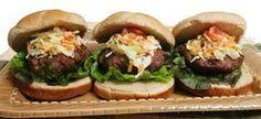 Slaw Burgers How To Cook Hamburgers, Cooking Hamburgers, Maidrites Recipe, Jicama Slaw, Cooking Recipes, Healthy Recipes, Healthy Food, Stuffed Sweet Peppers, Wrap Sandwiches