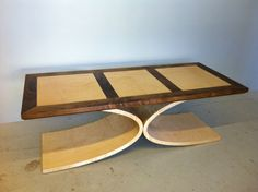 Art Deco Hand Crafted LCurve Coffee Table by DannyMaddockDesign, £1,250.00