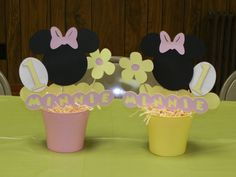 Baby Minnie Mouse Pink And Yellow by 3rdgenerationcrafts on Etsy, $12.00