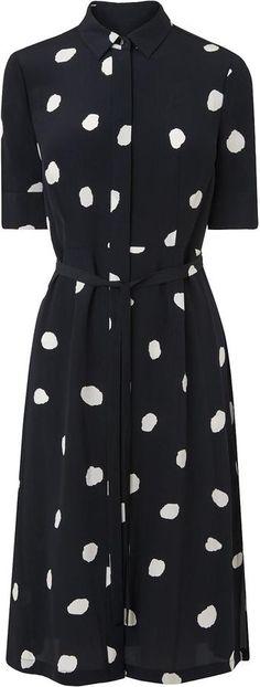 LK Bennett Pernila Navy Silk Dress
