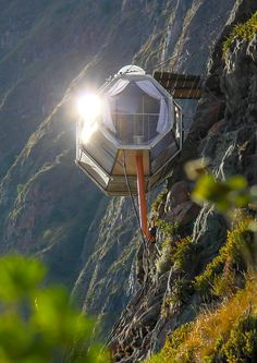 Natura Vive in Peru's Sacred Valley created their own via ferrata using metal rungs that jet out from the side of the mountain. After a 2-hour climb, you reach the sleeping pods with incredible views of the Andes from all sides.