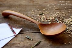 Rice Spoon Wooden Serving Spoon Fine Kitchen by OldWorldKitchen