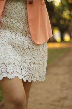 Peach + Lace = Lovely